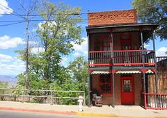 House of Joy (BCooner) Tags: jeromeaz arizona red brothel trees verdevalley firehydrant
