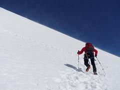 2017.06 - Grossglockner, Alps, High Tauern, Austria (rambles_pl) Tags: austria alps high tauern grossglockner grosglockner mountain mountains europe omd olympus em10 em10ii sky bluesky blue snow climbing trekking hiking ascent wind