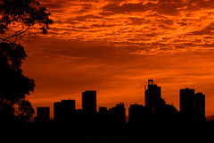 20170312_007.jpg (Rodney Campbell) Tags: building willoughby sky silhouette sunrise cityskyline clouds red