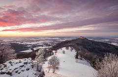 Winter Sunset (jochenbuehler) Tags: burghohenzollern schwäbischealb castle hohenzollern germany sunset clouds hill