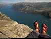 20160608_02 My orange feet (which aren't that asymmetrical IRL) & lovely red Teva sandals on Preikestolen (604 m cliff), Norway (ratexla) Tags: ratexla'snorwaytrip2016 preikestolen norway 8jun2016 2016 canonpowershotsx50hs norge scandinavia scandinavian europe beautiful earth tellus photophotospicturepicturesimageimagesfotofotonbildbilder europaeuropean summer travel travelling traveling norden nordiccountries roadtrip wanderlust journey vacation holiday semester resaresor landscape nature scenery scenic ontheroad sommar norwegian fjord fjords lysefjord lysefjorden coast ocean me ratexla feet barefeet teva tevas sandals red water pulpitrock gsgsgs favorite