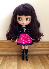 Pink Navy Dress for Blythe now listed in my Etsy shop ⚓️