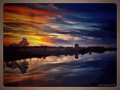 Sunset fantasy (Elena Penkova) Tags: sunset fantasy colors reflection painted art water iphoneography nature textured