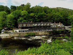 Hotel Overlooking The River Dee View From The Train June 2017 (mrd1xjr) Tags: hotel overlooking the river dee view from train june 2017