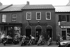 Downtown Saloon, Leesburg, Virginia (bepar3) Tags: motorcycles bikes leesburg virginia acros fujifilm x100f 23mm blackandwhite blackwhite bar