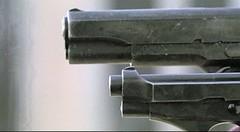 double (leatherraf) Tags: double gun pistol assassin killer robber robbery cruel ruthless glove leather