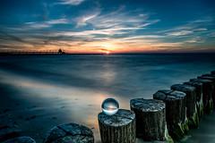 Sunset at the beach (muman71) Tags: dsc9482 nikon 20sec f16 iso100 28mm ostsee sonnenuntergang dars fischland