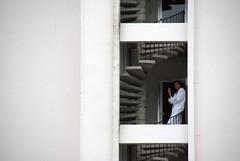 Røykende mann -|- Smoking man (erlingsi) Tags: røykende smoking man mann loen nordfjord alexandra noreg relaxing slappav white floors etasjer andres andresmänd trapp stairs spiral spiralstairs