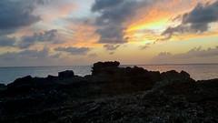 Grand Cayman (kev10212) Tags: sunset dusk beach scenic scenery sky sea shore sand landscapes rocky clouds fiery ocean caribbean