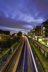 Trails in the Ends (Arron Strutt) Tags: london brentford lighttrail longexposure amazinglondon sunset bluehour d810 nikon nikonphotography graffiti sky night city southwest westlondon