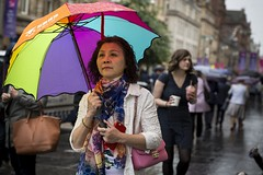 The Rainbow (Leanne Boulton) Tags: people portrait urban street candid portraiture streetphotography candidstreetphotography candidportrait streetportrait streetlife woman female face facial expression look emotion feeling weather atmosphere rain raining wet umbrella rainbow colourful dutchangle tone texture detail depthoffield bokeh style naturallight outdoor light shade shadow city scene human life living humanity society culture canon canon5d 5dmarkiii 70mm character ef2470mmf28liiusm color colour glasgow scotland uk