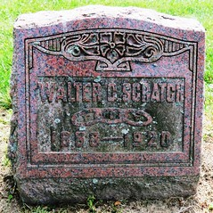 Scratch, Walter D. 1858 - 1920 (Hear and Their) Tags: fraternal grave stones markers oddfellows masonic mason freemason kingsville ontario greenhill cemetery