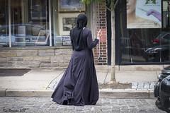 Germantown Avenue (wandering tattler) Tags: woman street philadelphia mobile technology 2017