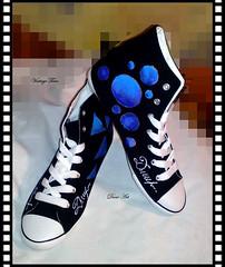 Sneakers Women Hand Painted (art-store.net) Tags: womensshoes handpaintedtextilepaint originaldesign modernprint qualityworkmanship udobevmodel