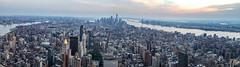 Manhatten (sammanwong) Tags: sonya6300 sony sonyalpha zeiss1670mmf4 zeiss1670 manhatten newyork newyorkcity ny downtownmanhatten buildings wideview cityview sunset goldenhour