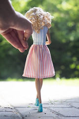 follow me (olgabrezhneva) Tags: doll dream портрет portrait barbie yoga made move madetomove barbiedoll mattel people outdoor summer sea beach hande handemade knitting clothes lea