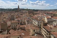Le nuvole giocano a Firenze (gabriele trentini) Tags: firenze fi italia it panorama paesaggio città case torre giotto nuvolo