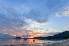 Sunrise over the Andaman Sea (Merrillie) Tags: holidays resort sunrise water coconutisland phangngabay clouds phuket beach andamansea travel island kohmaphrao waterscape landscape thevillagecoconutisland sea thailand