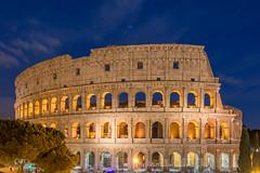 Colosseo at night (Chrisdevillio) Tags: rome rom sightseeing nightview nightshot night dark nightlights lights italy italien nightcaptures darkness architecture light roma lazio it