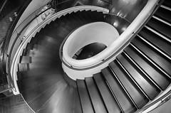 """Hypnotics"" (Photography by Sharon Farrell) Tags: stairs staircases staircase stairporn spiralstaircase spiralstaircases spiral steps stepsandstairs blackandwhite blackwhite noiretblanc monochrome abstractphotography abstract abstractarchitecture abstracts architecture newyorkarchitecture spiralabstract"