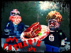 Fathers Day (LegoKlyph) Tags: lego custom zombies blood horror gore leg monsters fathers holiday minifigure bricks messy
