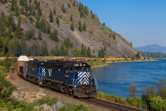 Eddy (jameshouse473) Tags: mrl montana rail link eddy sd45 clark fork river plains thompson falls train mountains summer