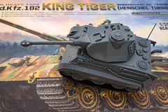 Unexpected outcome (Will Vale) Tags: worldwartoons tank kingtiger tiger tigerii nonscalemodel cute meng