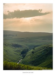 Sunset Over Lush Lands (Rory Prior) Tags: bronica calderdale etrsi fujicolorpro400h gorple yorkshire film mediumformat negative summer