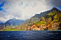 napali rainbow (kaimonster) Tags: hawaii kauai photography nature ocean mountain rainbow napali napalicoast nikon dslr