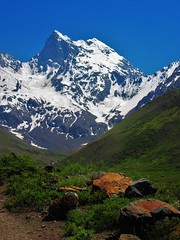 Cerro el Morado,reserva natural,cordillera andes,Chile (Gabriel mdp) Tags: montañas nieve glaciares cerro morado reserva natural cordillera andes trekking chile contrastes nature paisaje landscape