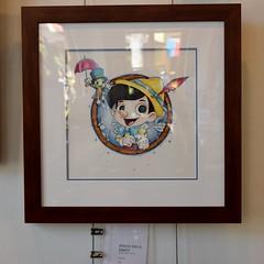 Disneyland Visit 2017-6-25 - Downtown Disney - WonderGround Gallery - Pinocchio & Jiminy by Chris Uminga (drj1828) Tags: disneyland visit 2017 downtowndisney wondergroundgallery artwork art