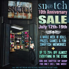 Sn@tch 10th Anniversary Sale Poster LG (Tess-Ivey Deschanel) Tags: sntch snatch secondlife sl second life sale specials summer iveydeschanel ivey ihearts mesh model meshclothing meshclothes models games gaming clothing clubwear clothes hair shopping shoes tops skirts shorts omegasystem