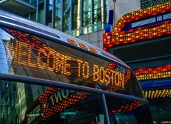 Welcome To Boston ((Jessica)) Tags: boston paramount lights bus citybus welcometoboston