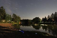 pond (scienceduck) Tags: scienceduck 2017 july night camping camp summer lightpainting