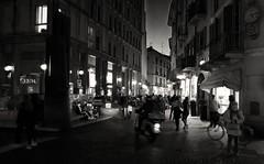 Novara, angolo delle Ore (Massimo Caccia) Tags: bw bnw bn silver mono monocromo monochrome blackwhite blackandwhite biancoenero novara people