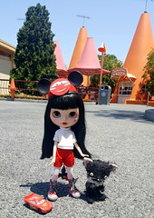 Minnie at the Cozy Cone