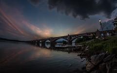 I love rivers (Resad Adrian) Tags: river sasquehanna columbia pa veterans memorial bridge evening pontoon