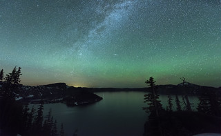 Milky Way over Crater Lake (Crater Lake NP, OR)