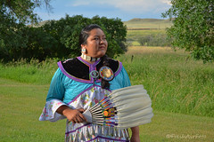 Heritage (RootsRunDeep) Tags: nativeamerican woman heritage dress beads feathers costume wyoming windriver