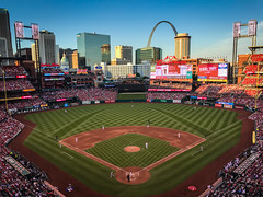 City skyline view from Busch Stadium - St Louis Cardinals - St. Louis MO (mbell1975) Tags: stlouis missouri unitedstates us city skyline view from busch stadium st louis cardinals mo vs washington nationals mlb baseball park ballpark arena usa america american stl gateway arch