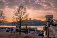Sunset in the city (Vagelis Pikoulas) Tags: sun sunset sunburst budapest buda sky clouds cloudy cloud canon 6d tokina 1628mm landscape city cityscape view danube travel photography bridge chain hungary europe