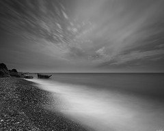 Pebble beach (Rico the noob) Tags: dof landscape nature d500 outdoor published stones clouds bw longexposure cyprus beach ocean monochrome travel blackandwhite water sky 2017 1120mm coast sea 1120mmf28