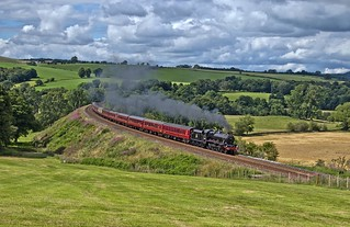 LMS Jubilee Class 4-6-0 No 45690 Leander in charge of