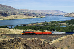 Daylighted At Moody (PNW Rails Photography) Tags: thedalles oregon unitedstates moody celilo celilovillage sp 4449 southern pacific trunk subdivision railway bnsf cascades daylight 484 northern lima 1941 locomotive steam