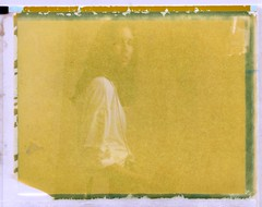 """In progress"" by Seslines Clothing brand (Dear Deer Fine Art) Tags: polaroid film expired largeformat"