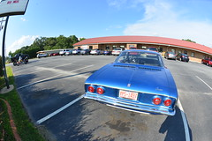 Classic Cars Corvair Club Hoyt's Restaurant Lexington, NC Motorcycle Harley Davidson heritage softail 20170710_4238 (Shane's Flying Disc Show) Tags: classiccars corvairclub davidson nc lexinton unsafeatanyspeed daredevils