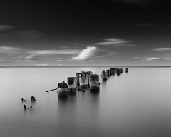 Space to Rest (andrewpmorse) Tags: blackandwhite lake lakeontario 50point hamilton dock cloud seascape landscape longexposure centre canon 6d 24105f4l leefilters leebigstopper lee06ndgradsoft leelandscapepolarizer dramatic water