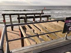 Post Sandy Pier (tmrae) Tags: jerseyshore newjersey sunrise hurricainesandy boardwalk pier oceangrove