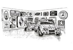Musée Lohéac by Cyrille - 25 juin 2017 (croquisdumercredi) Tags: croquis sketch car voiture