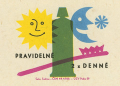 czechoslovakian matchbox label (maraid) Tags: teeth clean brush brushing health advice czechoslovakia czechoslovakian matchbox label packaging night day sun moon toothpaste toothbrush